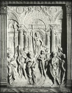 Agostino di Duccio, Tempio di Minerva, Particolare dell'Arca degli Antenati, 1454 circa, Tempio Malatestiano, Rimini, fot. Brogi